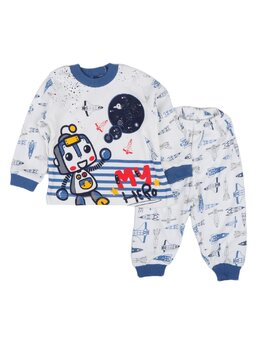 Pijama galaxy model albastru