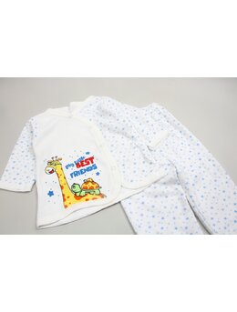Pijama girafa albastru
