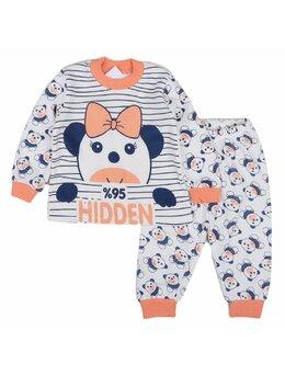 Pijama HIDDEN portocaliu