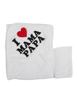 Prosopel I love MAMA PAPA alb