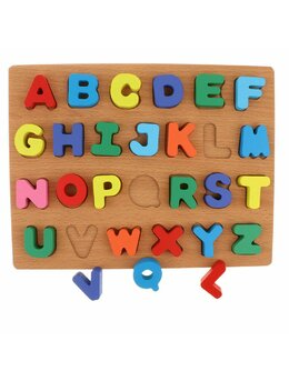 Puzzle lemn Alfabet cu litere mari Sole