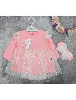 Rochita inimioare kitty cu bentita roz