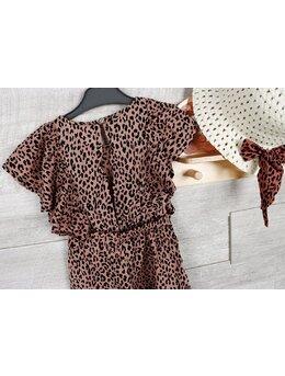 Salopeta Cumino leopard + palarie model maro