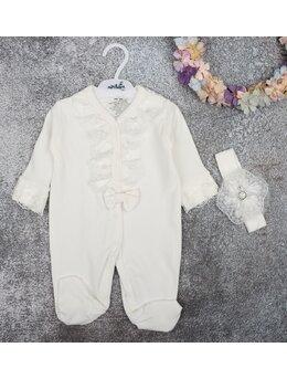Salopeta premium Isabella model alb