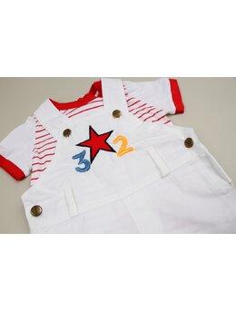 Salopeta star alb-rosu