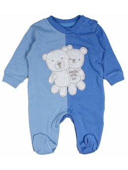 Salopetica baby ursulet model bleu-albastru