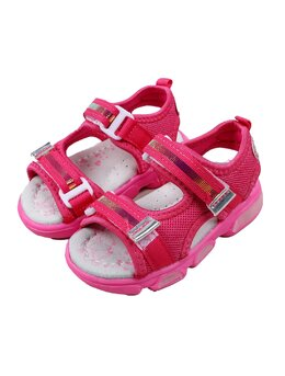 Sandale copii fashion cu LED model roz-ciclam