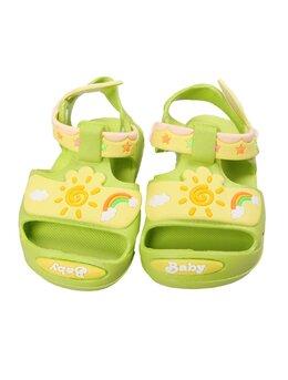Sandale copii sunshine model verde-galben