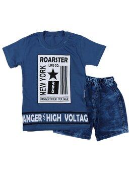 Set 2 piese Danger albastru