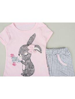 Set 2 piese iepurila model roz