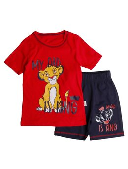 Set 2 piese Lion is king model rosu