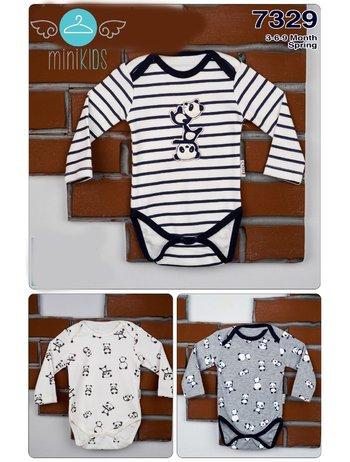 Set 3 body baietei panda