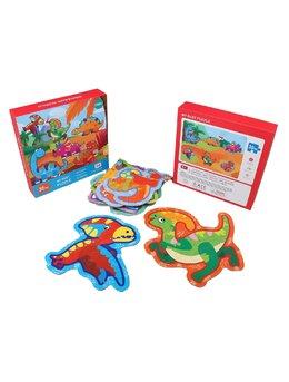 Set 6 puzzle piese mari Dinozauri 30 piese