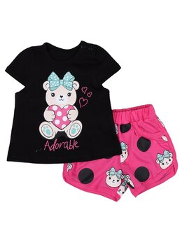 Set Adorable negru-ciclam