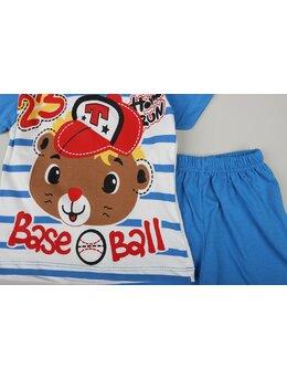 Set Baseball bear albastru
