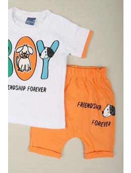 Set BOY and dog portocaliu