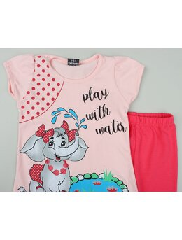 Set fetita play with water model coral
