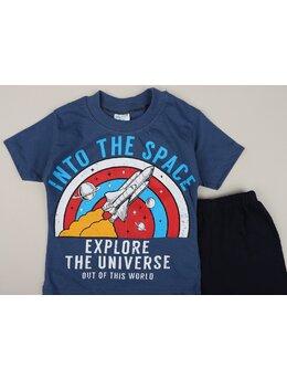 Set INTO THE SPACE model albastru
