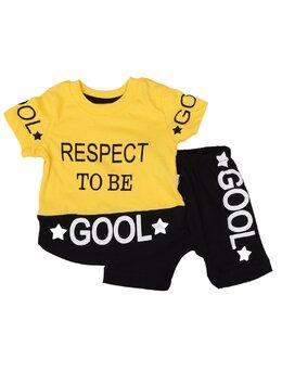 Set RESPECT TO BE GOOL galben