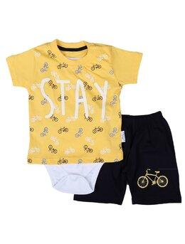 Set STAY bike 3 piese model galben