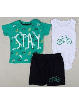 Set STAY bike 3 piese model verde