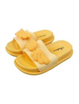 Slapi cu aripioare pentru copii model galben
