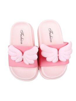 Slapi cu aripioare pentru copii model roz