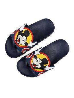 Slapi cu Mickey pentru copii model bleumarin