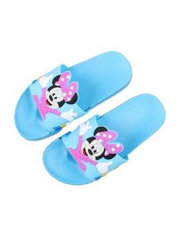Slapi cu Minnie pentru copii model bleu-ciclam