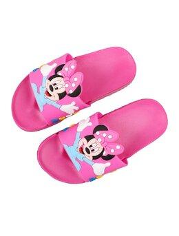 Slapi cu Minnie pentru copii model ciclam-bleu