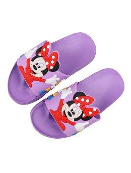 Slapi cu Minnie pentru copii model mov-rosu
