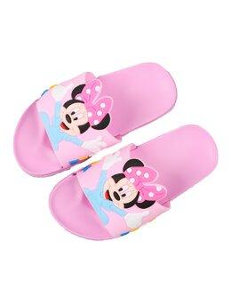 Slapi cu Minnie pentru copii model roz-bleu