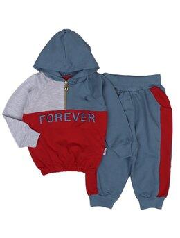 Trening FOREVER boy model rosu-gri-albastru