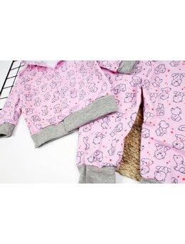 Treningut fetite roz cu ursulet