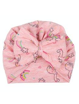 Turban roz cu dinozauri