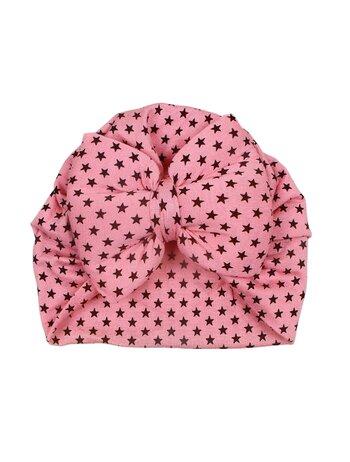 Turban roz cu stelute model 103