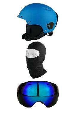 Pachet Blacksheep Matte Blue Furgler C1 (Cască+Ochelari+Cagulă)