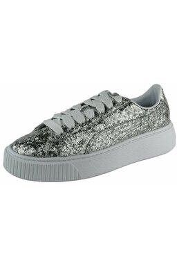 Pantofi Sport Puma Basket Platform Glitter Silver