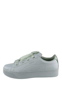 Pantofi Sport Puma Vikky Platform Ribbon Metal White