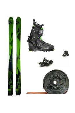 Set Ski de Tură Fischer Trans Alp 80 Marker Alpinist 9 Roxa RX Scout (Schiuri + legături + piei + clăpari)