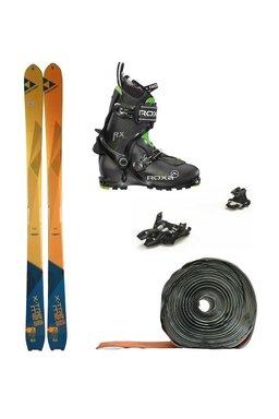 Set Ski de Tură Fischer X-Treme Marker Alpinist 9 Roxa RX Scout (Schiuri + Piei + Legături + Clăpari)