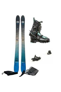 Set Ski de Tură Volkl Rise Marker Alpinist 9 Roxa RX Scout (Schiuri + piei + legături + clăpari)