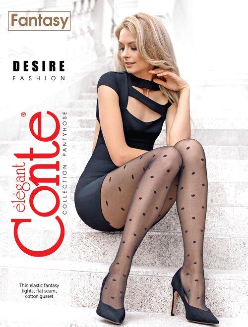 Ciorapi cu buline marunte Conte Desire 20 den
