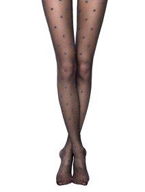 Ciorapi cu buline metalizate Conte Brilliant 20 den