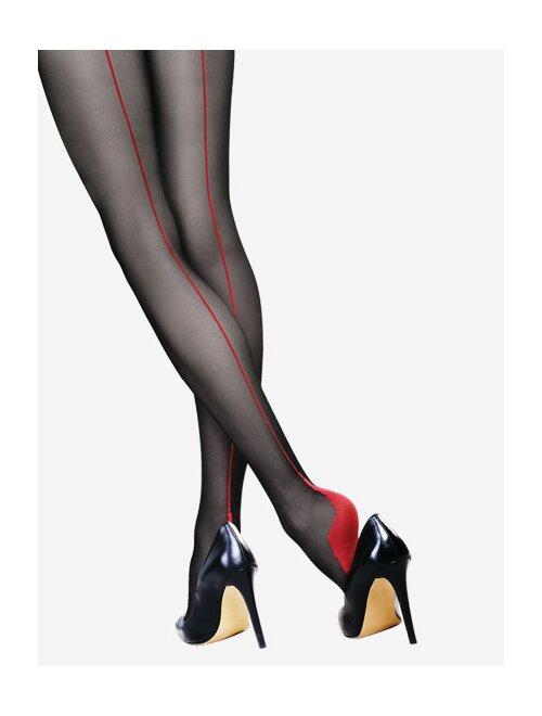 Ciorapi cu dunga rosie Lores Riga Rossa 20 den
