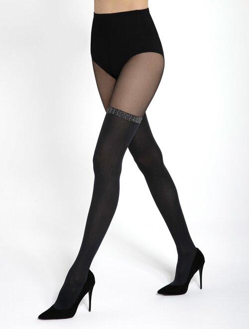 Ciorapi cu model imitatie jambiere Gatta Girl Up 39 60 den