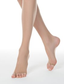 Ciorapi subtiri multifibra rezistenti cu varf decupat Conte Elegant Open Toe 8 den