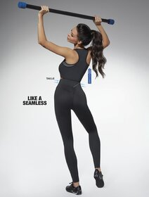 Colanti pentru sport negri cu talie modelatoare Bas Bleu Perfect Body 200 den