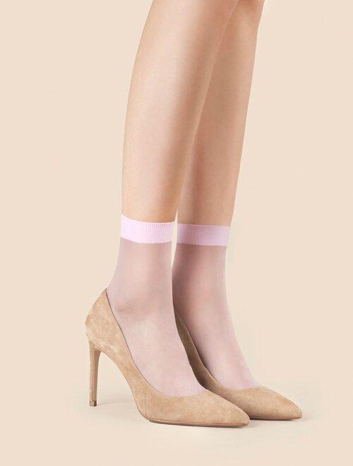Set 2 perechi sosete lycra roz simple Fiore So Sweet 20 den