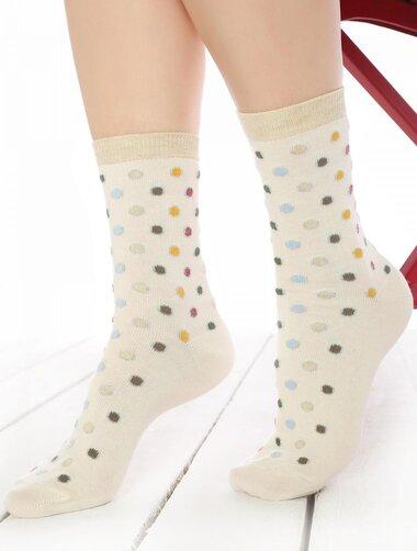 Sosete cu buline colorate si fir metalizat Socks Concept SC-1588